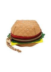 Betsey Johnson Burger Zip Wristlet Bag