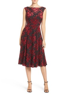 Betsey Johnson Burnout Velvet Midi Dress