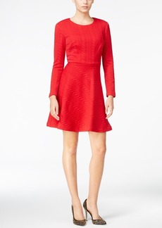 Betsey Johnson Cable-Knit Fit & Flare Dress