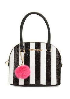 Betsey Johnson Candy Cane Striped Dome Satchel Bag