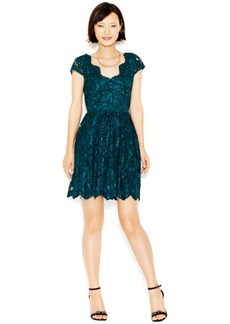 Betsey Johnson Cap-Sleeve Lace Party Dress
