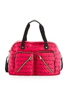 Betsey Johnson Cargo Floral Nylon Weekender Bag