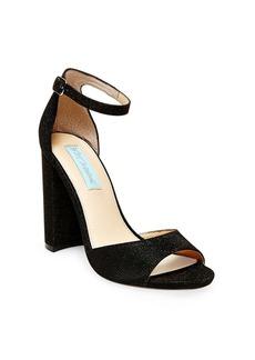 Betsey Johnson Carly Metallic Fabric Sandals