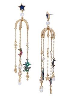 Betsey Johnson Celestial Charm Chandelier Earrings