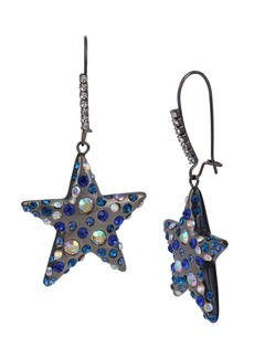 Betsey Johnson Celestial Star Dangle Earrings
