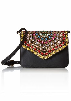 Betsey Johnson Chain of Command Flap Bag black