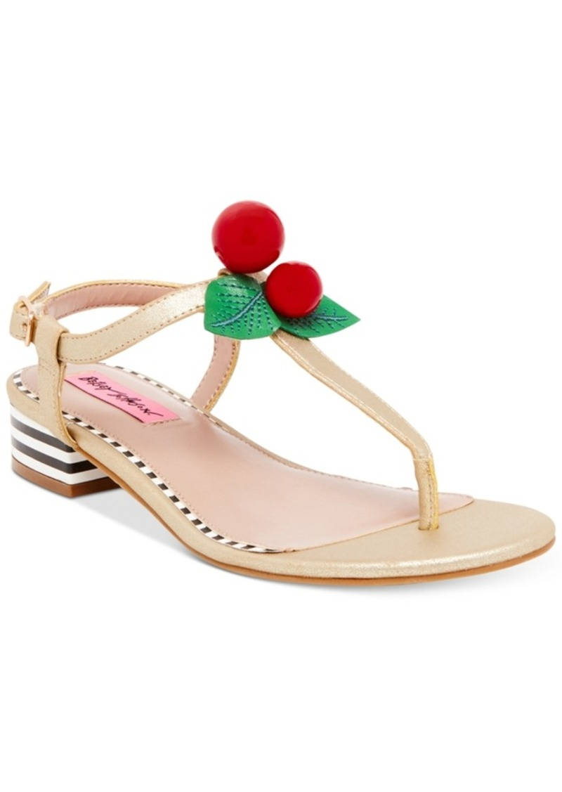 87e11910aac Betsey Johnson Betsey Johnson Cherry Thong Sandals Women s Shoes