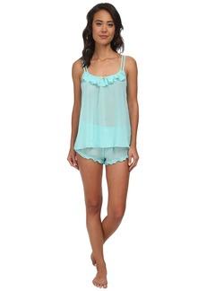 Betsey Johnson Chiffon Cami Doll Shorts Set