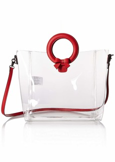 Betsey Johnson Clear Cut Choice Tote  red