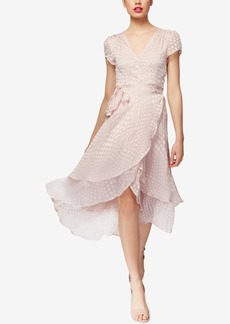 Betsey Johnson Clip-Dot Wrap Dress