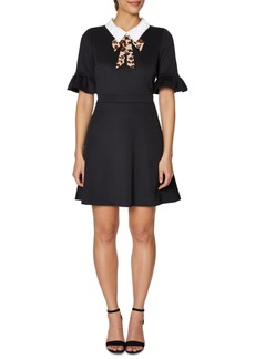 Betsey Johnson Collar Fit & Flare Dress