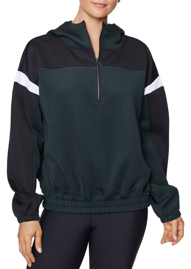 Betsey Johnson Color-Block Half-Zip Sweatshirt