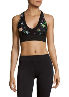 Betsey Johnson Colorblocked Racerback Sports Bra