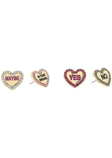 Conversation Heart Stud Earrings Set