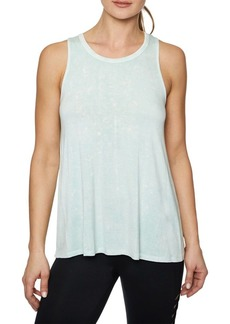 Betsey Johnson Crisscross Back Bleach Wash Tank Top