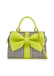 Betsey Johnson Curtsy Dotted Bow Satchel Bag