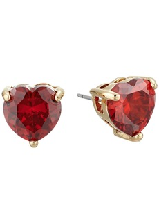 Betsey Johnson CZ Hearts Earrings