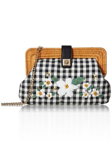 Betsey Johnson DAISY'D & Confused Flower Clutch Crossbody