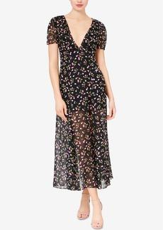 Betsey Johnson Deep-v Cherry-Print Maxi Dress