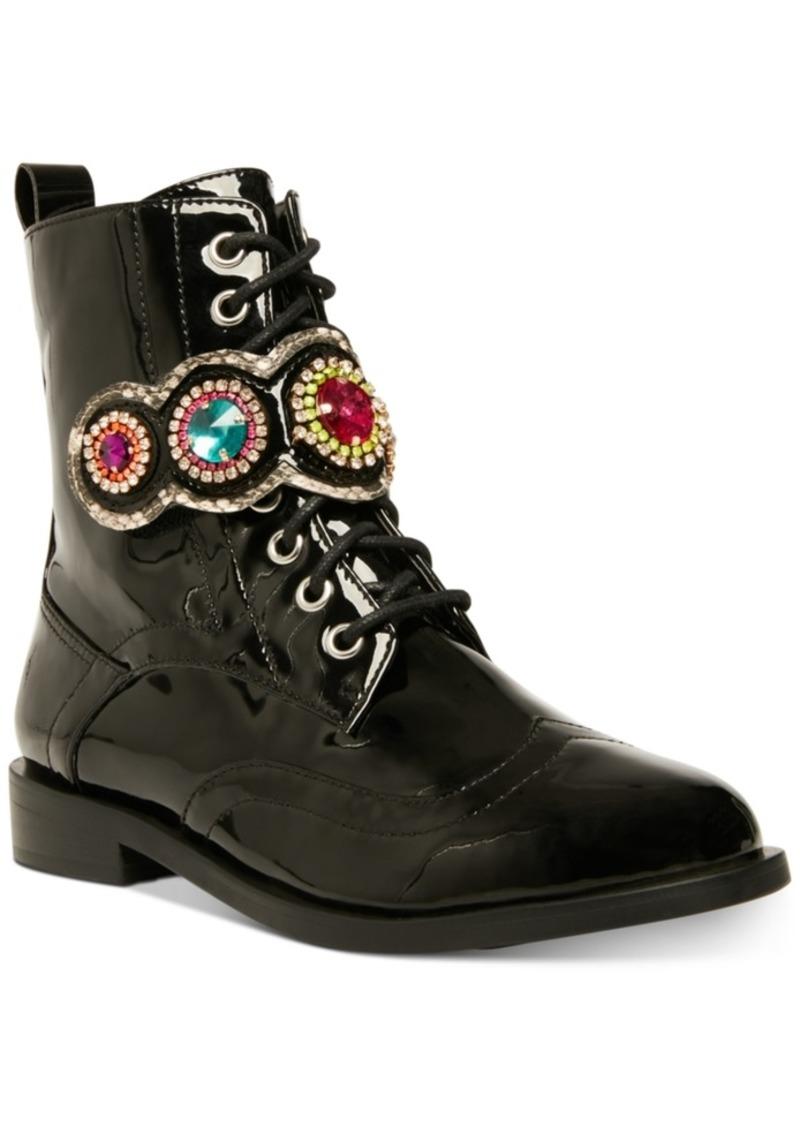 Betsey Johnson Dexter Combat Boots Women's Shoes
