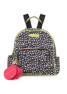 Betsey Johnson Dot-Print Backpack & Faux Fur Keychain