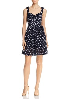Betsey Johnson Dot-Print Sleeveless Dress