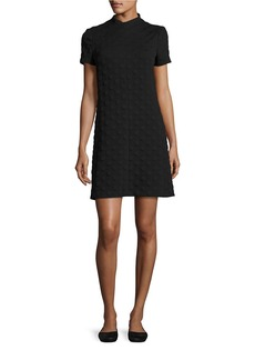 BETSEY JOHNSON Dotted Texture Shift Dress