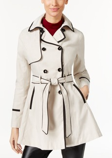Betsey Johnson Double-Breasted Corset Raincoat