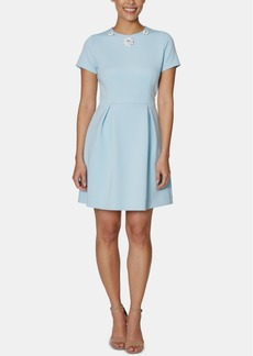 Betsey Johnson Embellished-Collar A-Line Dress