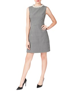 Betsey Johnson Embellished Collar Sheath Dress