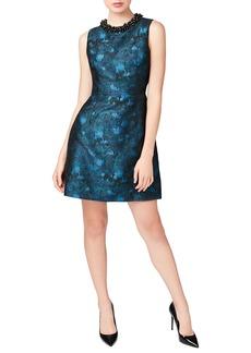 Betsey Johnson Embellished Jacquard Dress