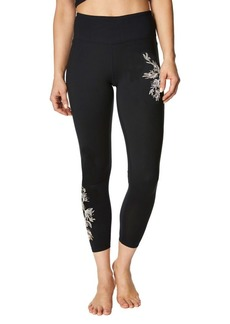 Betsey Johnson Embroidered High-Rise Leggings