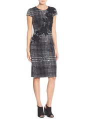 Betsey Johnson Embroidered Knit Sheath Dress