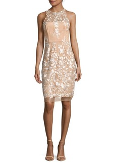 Betsey Johnson Embroidered Mesh Dress