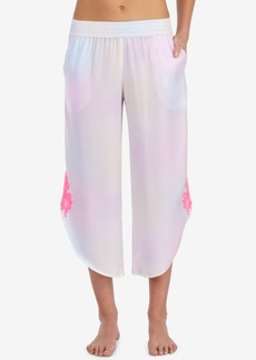 Betsey Johnson Embroidered Pajama Pants