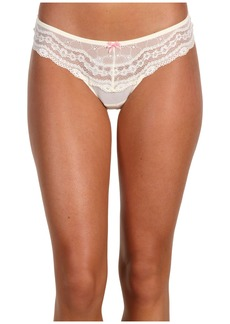 Betsey Johnson Eyelet Lace Lo-Rise Wide Side Thong 722325