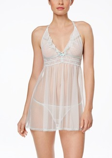 Betsey Johnson Eyelet Mesh Babydoll with G-String