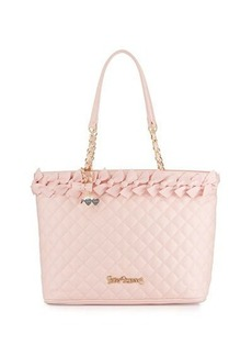 Betsey Johnson Family Ties Quilted Tote