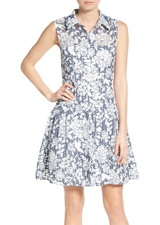 Betsey Johnson Fit & Flare Shirtdress