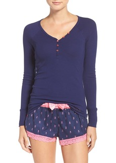 Betsey Johnson Flannel Boxer Pajamas