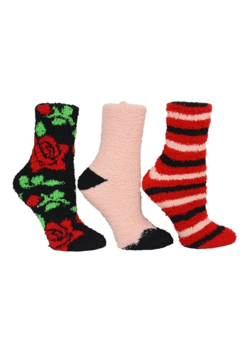 Betsey Johnson Floral Cozy Sock Giftbox, 3-Pack