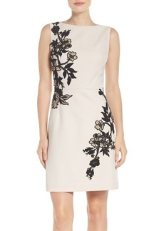 Betsey Johnson Floral Detail Crepe Dress