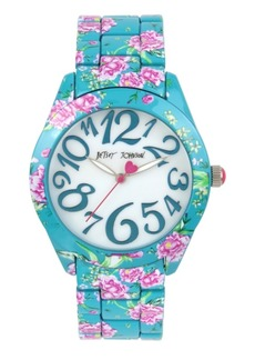 Betsey Johnson Floral Graphic Printed Case & Bracelet Watch 42mm