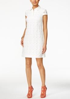 Betsey Johnson Floral Lace Shirtdress