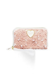 Betsey Johnson Floral Lace Travel Wallet
