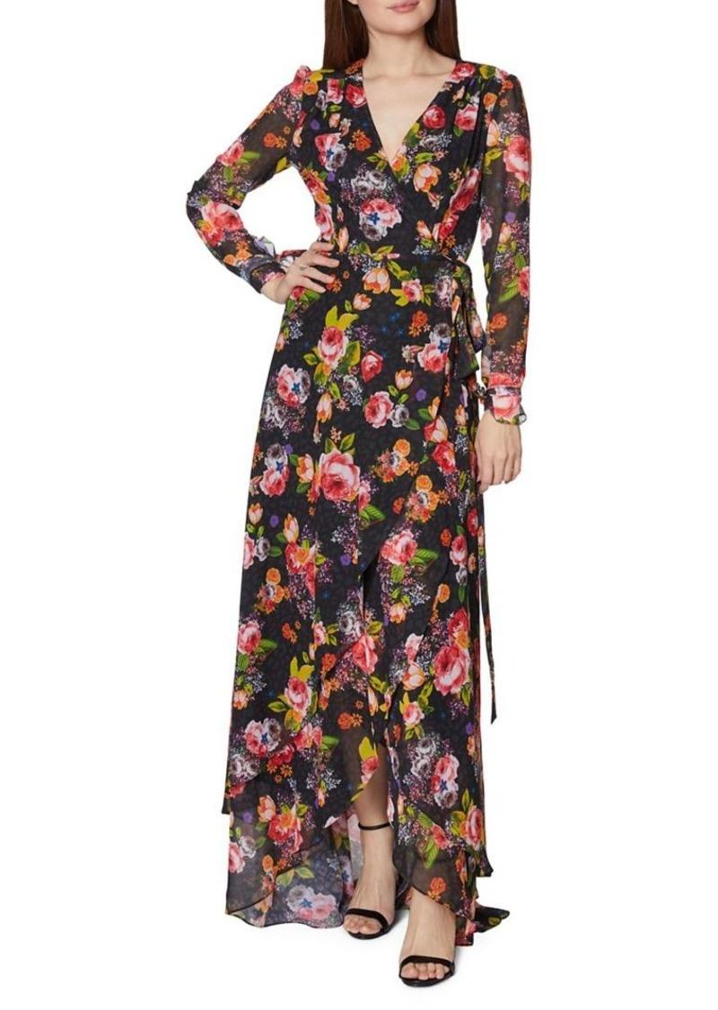 Betsey Johnson Floral Mesh Wrap Dress
