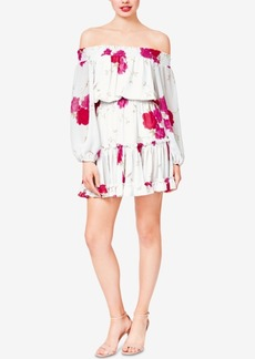 Betsey Johnson Floral Off-The-Shoulder Dress