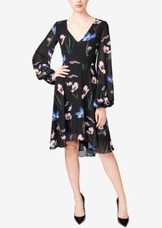 Betsey Johnson Floral-Print A-Line Dress