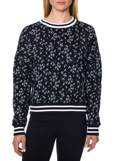 Betsey Johnson Floral-Print Cotton Sweatshirt