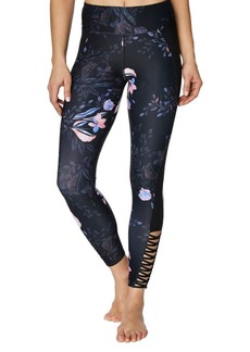 Betsey Johnson Floral-Print Hi-Rise Leggings